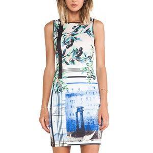 Clover Canyon 'Olive Tree' Neoprene Dress (XS)